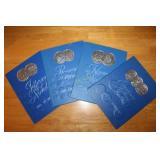 Four H.E. Harris Coin Books with Coins