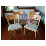 4 Wood and Upholstered Dining Chairs