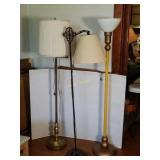 Three Floor Lamps