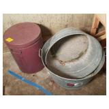 Two Galvanized Tubs and More