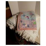 Chenille Throw Blankets, Small Quilt, and More