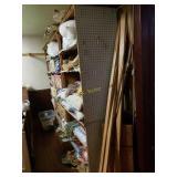 Handmade Storage Racks with Contents