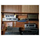 Cassette Deck, Webcor 8 Track Player, and More