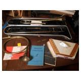 Bundy Trombone with Case, Horn, and More