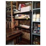 Metal Storage Shelf with Office Supplies