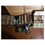 Two Tackle Boxes, Fishing Tackle, and More