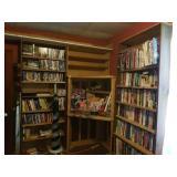 Corner Cabinet and Homemade Bookshelves