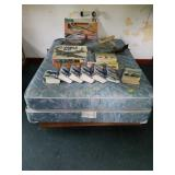 Wooden Bed Frame with Mattress and Box Spring