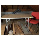 Vintage Aluminum Folding Table and Chair