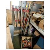 Assorted Sizes of Bar Clamps and More