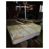 2 Craftsman Table Saws with Added Table Surface