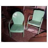 Two Vintage Metal Patio Chairs