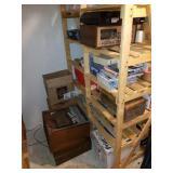 Contents of Shelf Unit and Floor Below