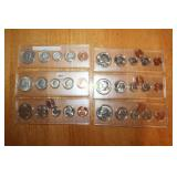 1954. 1969, 1985, Two 1988, 1990 Coin Sets