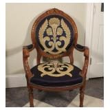 Wood Framed Upholstered Accent Chairs