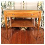 Wood Accent Table With Drawer