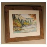 Framed Original Watercolor*