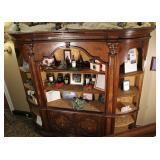 Vintage Open Front Curio Cabinet