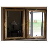 Beveled Glass Framed Mirrors