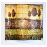 Textured Print on Wood