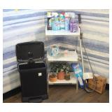 Cleaning Supplies, Shelf, Trash Can, and More