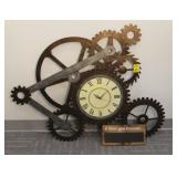 Decorative Metal Gear Wall Clock and More