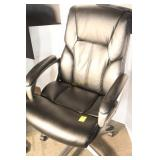 Adjustable Height Faux Leather Office Chair