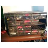 Parts Bin with Drawers of Assorted Components
