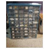 Assorted Radio Parts and Bin