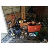 Schwinn Unicycle, Drum Pump, Metal Detector, and