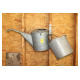 Vintage Galvanized Watering Can and Bucket