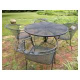 Metal Patio Set with 4 Chairs