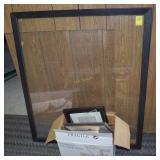 Large Framed Glass and Assorted Frames