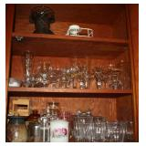 Assorted Stemware, Glasses, Crocks, and More