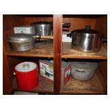 Apple Peeler, Ice Bucket, Pots and Pans