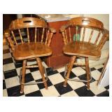 Two Barrel Seat Bar Stools
