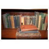 Shelf of Vintage Books