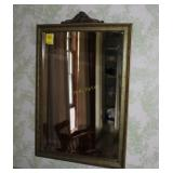 Antique Framed Beveled Edge Wall Mirror