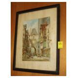 Antique Print in Decorative Frame