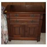 Antique Nightstand with Dovetail Drawers