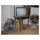 Vintage Floor Fan, TV, and More