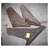 Three Vintage Plow Blades