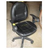 Black Rolling Office Chair with Arms