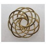 14K Yellow Gold Know Brooch