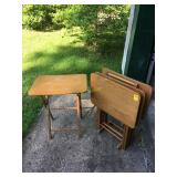 Set of 4 TV Tray Tables