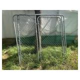 1 Chain link gate and panel
