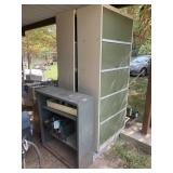 metal cabinets and contents