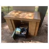 wooden desk 24x42x28
