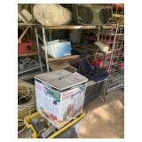 shelf w/ contents & tool box