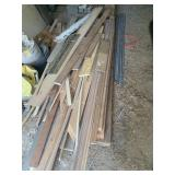 pile of wood and trim